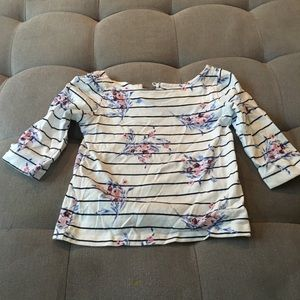 Janie and Jack striped flower shirt size 3